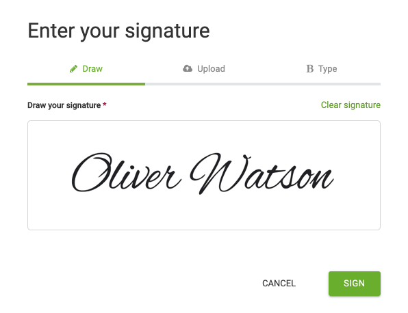 Enter your signature