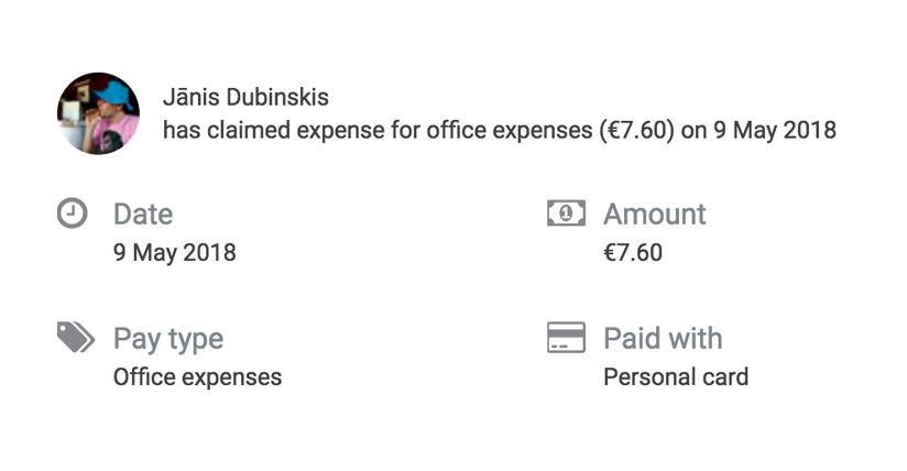Expenses automate expense recording