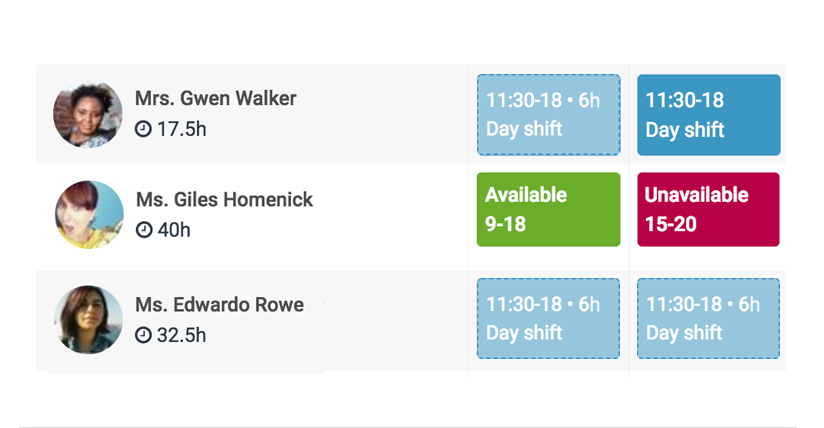 Scheduling availability